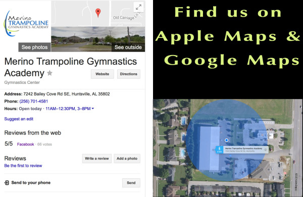You can now find us on Google and Apple maps!